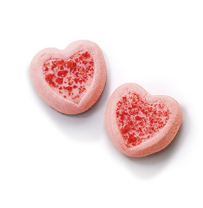 草莓心形餅