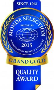 Monde Selection - Grand Gold Quality Award 2015 (Blue version)